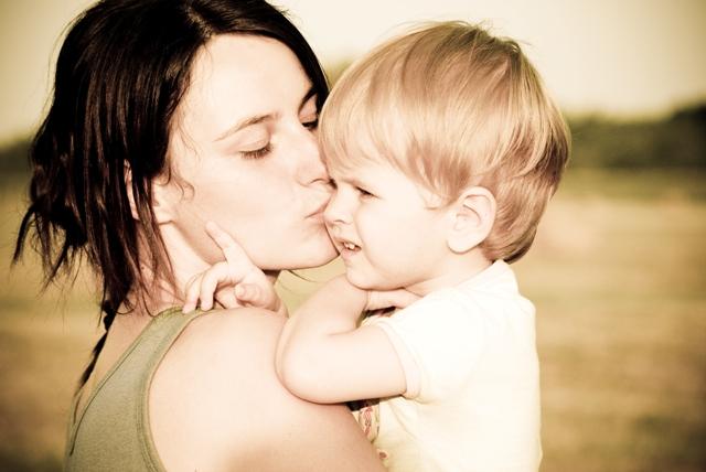 Kyss barna god natt!